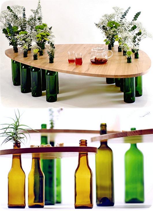 Авторская мебель из бутылок