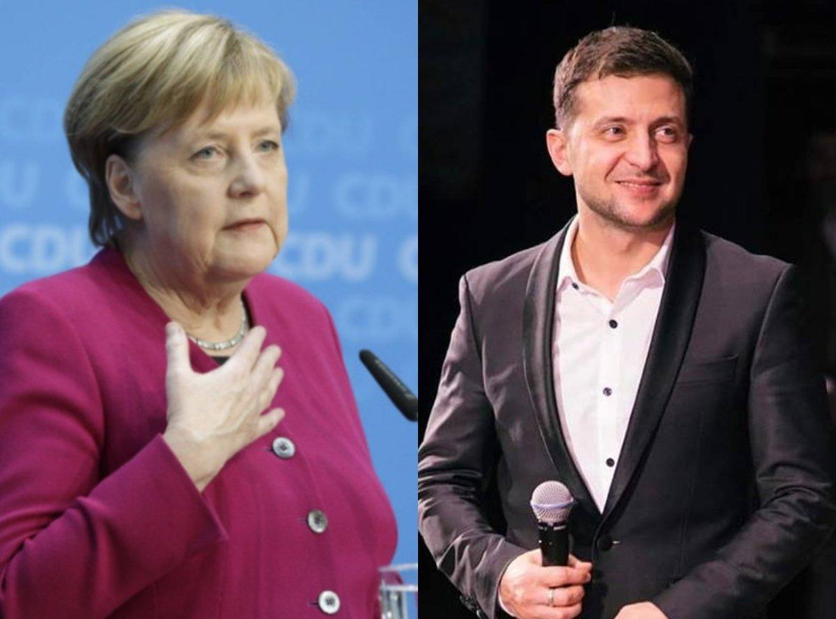 Меркель поздравила Зеленского с победой и пригласила в Берлин