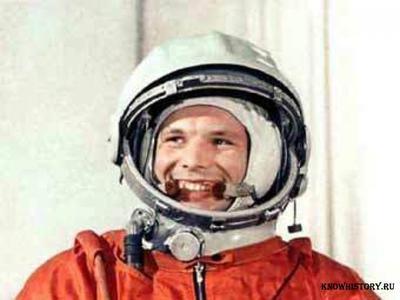 """12 апреля в 1961 году Гагарин на космическом корабле """"Восток"""" впервые в мире совершил орбитальный облет Земли"""
