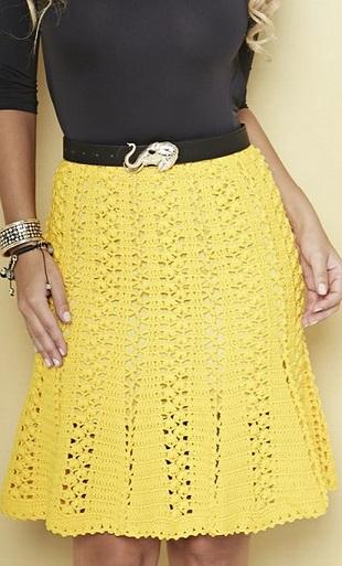 Ажурная летняя юбка крючком. Схема