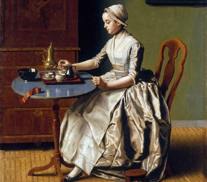 Жан-Этьен Лиотар. Дама с шоколадом. Фрагмент. Фото: Интернет