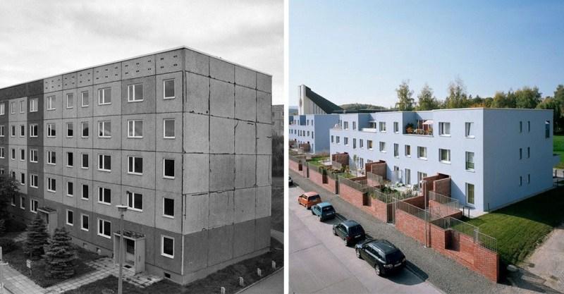 Как в Германия отремонтировали старые социалистические многоквартирные дома «хрущевки»