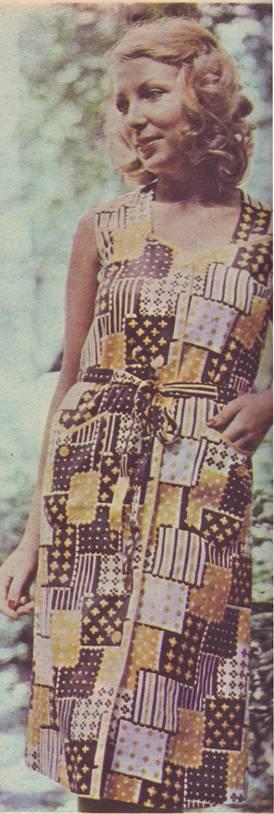 платье-халат из хлопчатобумажной ткани