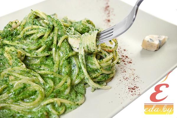 КАК приготовить спагетти со шпинатно-творожным соусом? :: Ку…