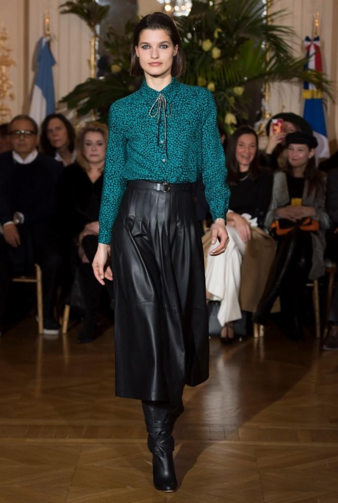 стильная деловая рабочая блузка - черно-зеленые сочетания