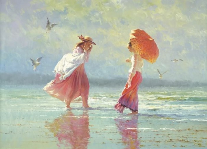 женщина и море Robert Hagan - 07