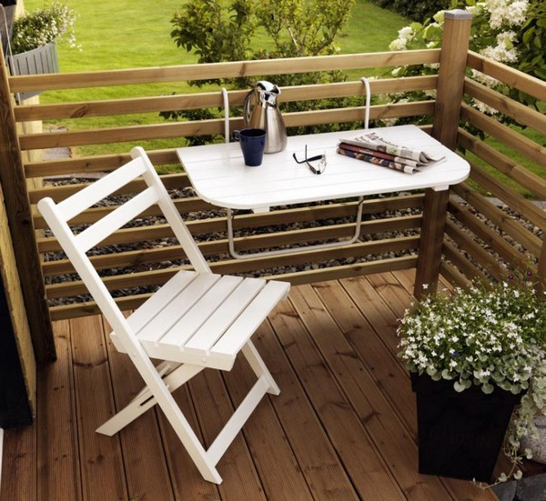 Сделать столик на балконе