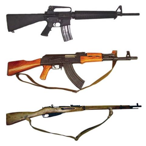 10 фактов об АК 47, М16 и винтовке Мосина