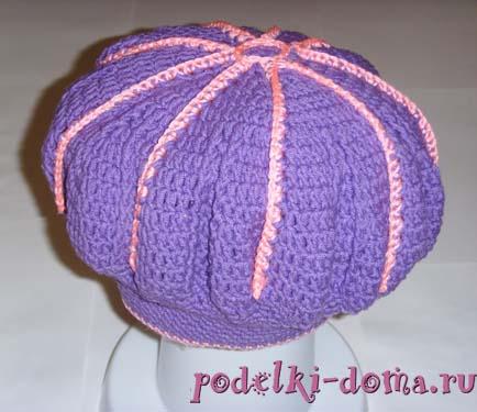 Вязание берет для девочки годовалой