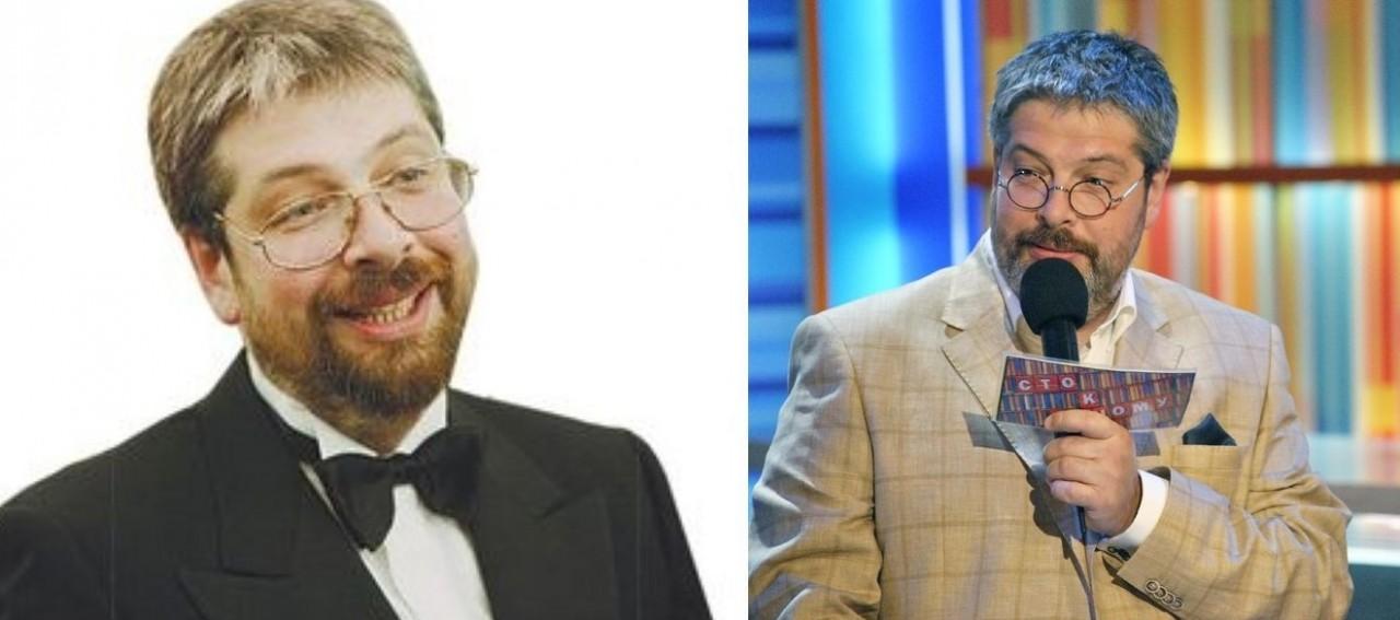 Александр Гуревич (52 года) люди, телеведущие, телевизор, тогда и сейчас