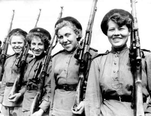 Еще одна тема о женщинах-снайперах в годы Великой Отечественной войны..