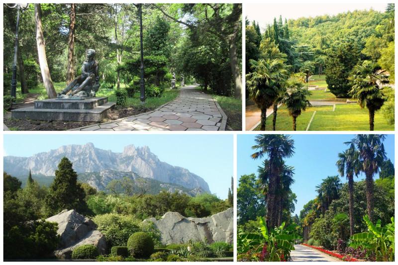 И многочисленные парки и парковые зоны Ялты - Воронцовский, Гурзуфский, парки Гаспры и Ливадии интересное, красота, факты, ялта