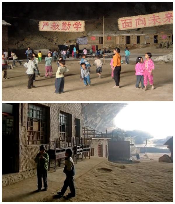 Самые маленькие жители деревни под сводами древней пещеры (Чжундун, Китай).   Фото: youtube.com.