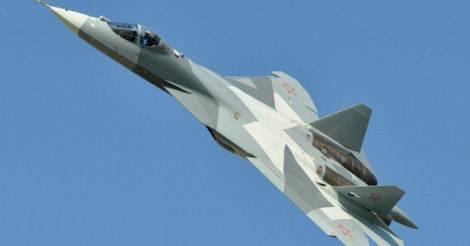 Зрелищный полёт Су-57