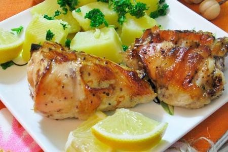 Курицу в духовке с лимоном как сделать