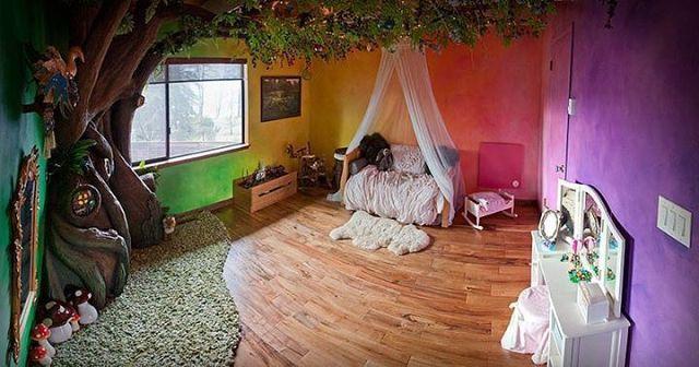 Отец перестраивал комнату дочки 18 месяцев. Результат - отличный!