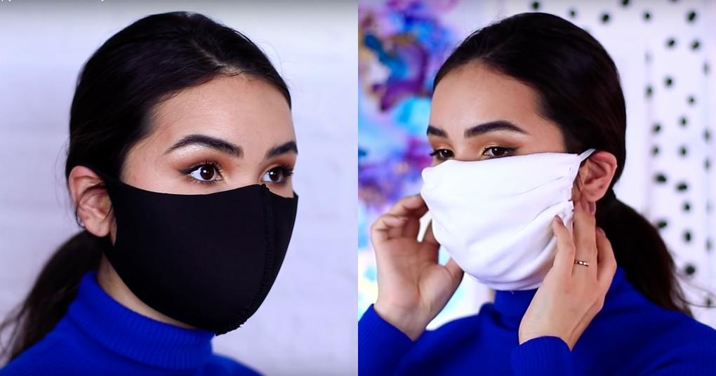 Два варианта самодельных масок для лица, которые можно сделать за пять минут