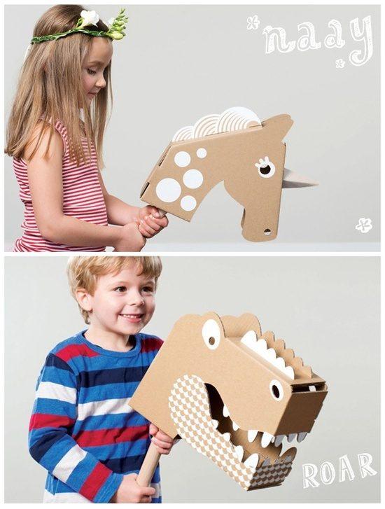 Как сделать лошадь из коробок