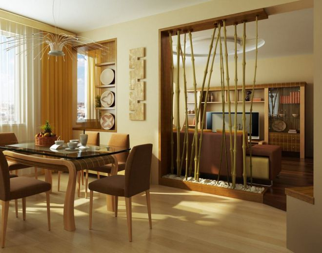 декор совмещенной кухни с гостиной