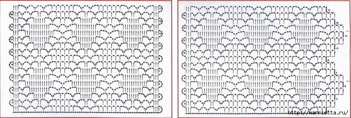 Вязание крючком. Кружева и бордюры (4) (700x236, 205Kb)