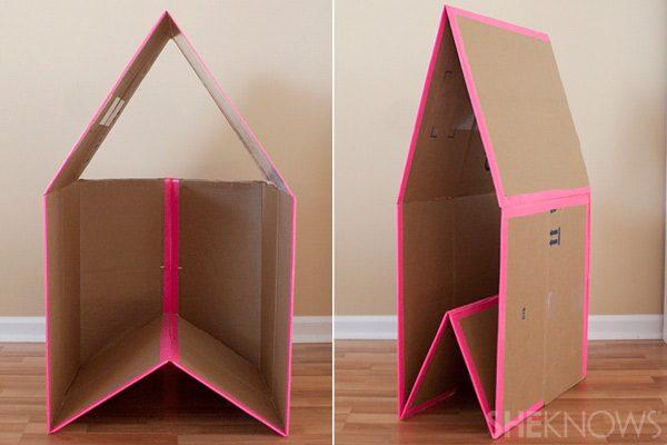 Домик из коробок для