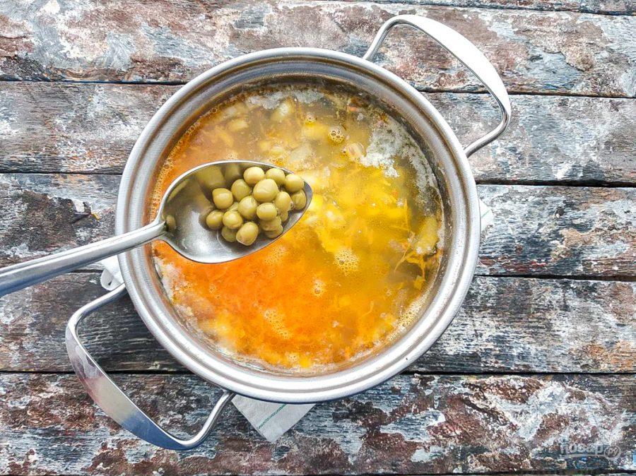 Суп с картошкой и горошком