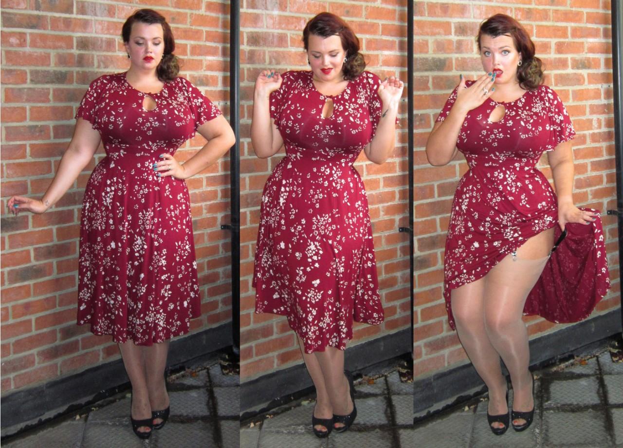 фотодевушек пышечек в платье
