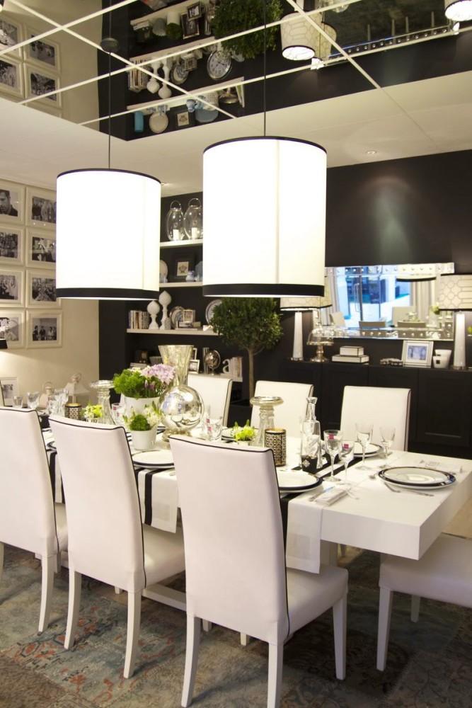Мебель и предметы интерьера в цветах: черный, серый, светло-серый, белый. Мебель и предметы интерьера в стиле арт-деко.