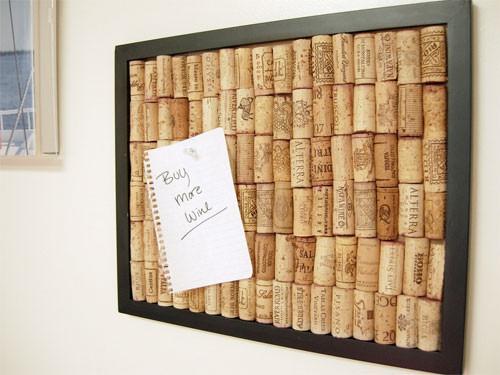 23. Украсьте стену собственноручно сделанной картиной из винных пробок лайф-хаки, советы в быту, советы для девушек
