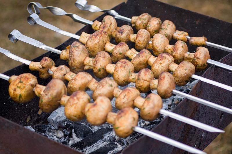 А вы пробовали приготовить необычный шашлык из грибов?