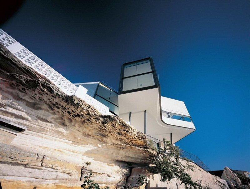 Дом Холмана в Dover Heights (Австралия) находится на краю 70-метровой скалы над Тихим океаном дом, интересное, красиво, обрыв, строения