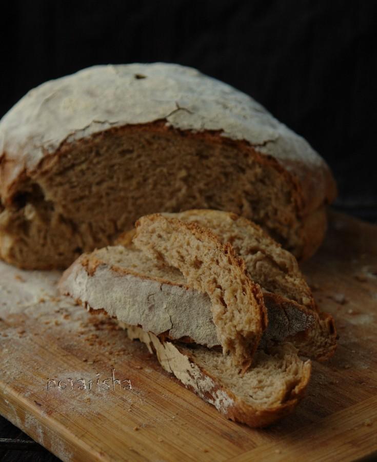 Хлеб на тёмном пиве с луком 2