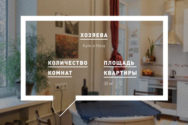 30-метровая квартира-студия на «Розочке» с завтраками на свежем воздухе