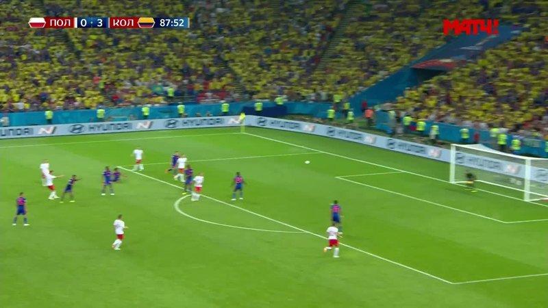 Польша - Колумбия. Мощный удар Левандовского