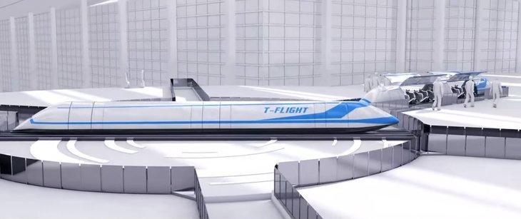 Скорость 1000 км/ч: представлена модель сверхбыстрого поезда