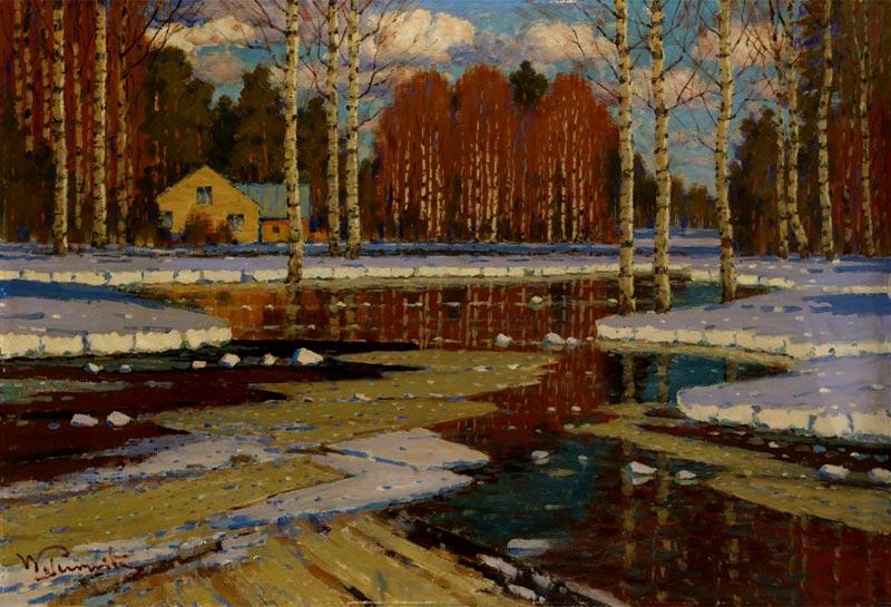 И в сердце тишина освобожденья... Латышский художник Vilhelms Kārlis Purvītis (1872-1945)