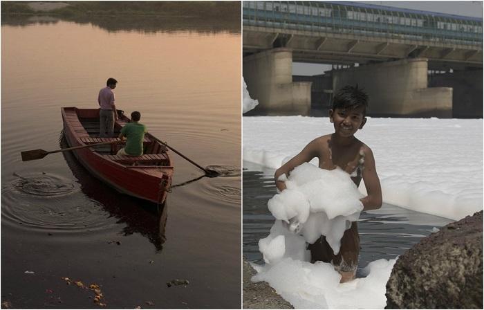Многоликая Индия: Живописные фотографии индийской реки Джамны, которая погибает