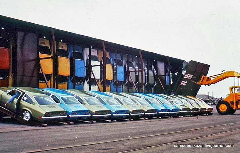 Как раньше в США перевозили автомобили