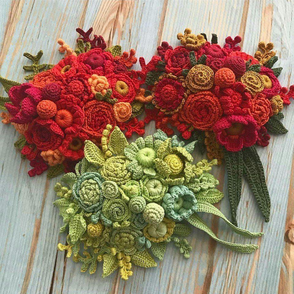 Браво мастерице, за такие потрясающие цветочные композиции!