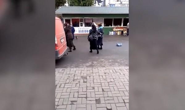 На Украине цыганки подрались…