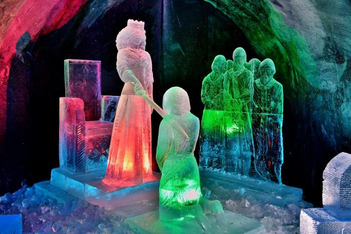 Ледяная сказка. заполярье, ледяные фигуры, Зимняя сказка, фотография, скульптура, лёд, длиннопост