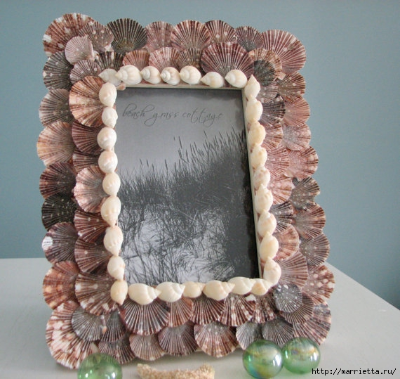 Красота из ракушек для интерьера ванной комнаты 15778
