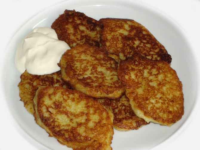 Картофельные драники с мачанкой