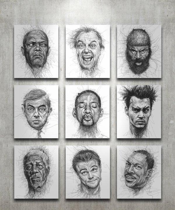 Портреты авторучкой