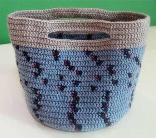 летняя сумка-корзинка