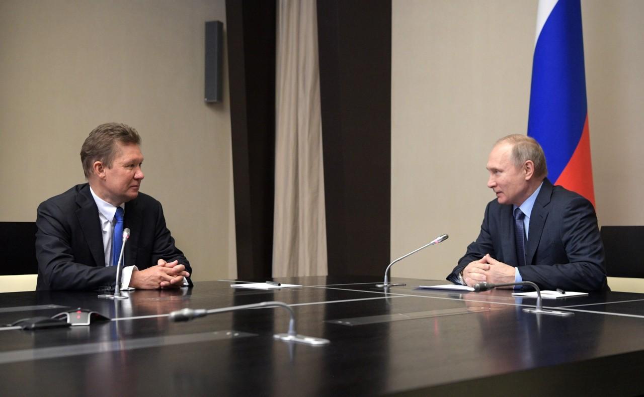 Встреча с главой компании «Газпром» Алексеем Миллером