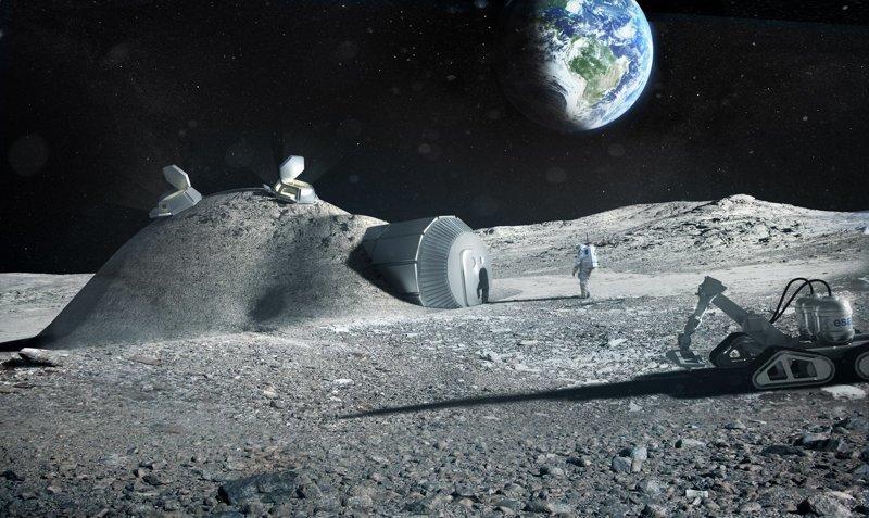 25 интересных концептов, показывающих, как может выглядеть первая база человечества на Луне база на луне, искусство, концепты, космос, луна, лунная база, наука