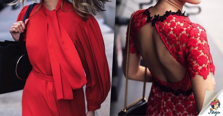 Платья в самом модном цвете Гренадин: 15 стильных идей для Вас