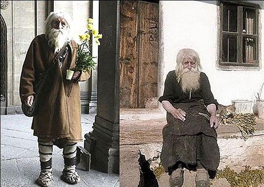 дедушка Добри из болгарской деревни Баилово