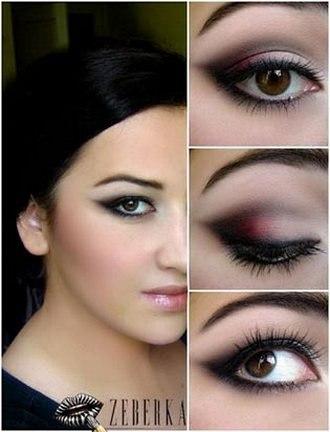 макияж на каждый день для карих глаз